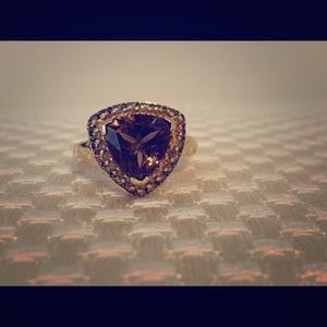 Levian Chocolate Quartz Honey Gold ring